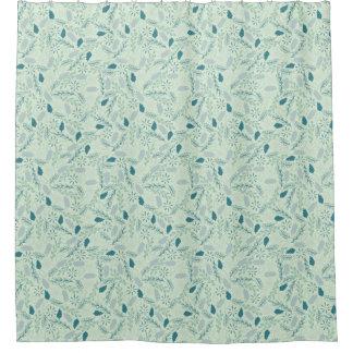 青い夏はパターンを残します シャワーカーテン