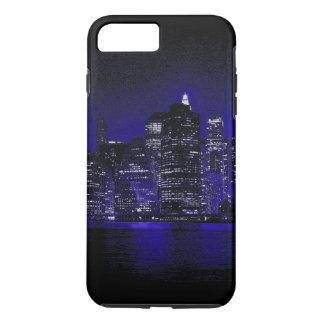 青い夜のニューヨークシティ iPhone 8 PLUS/7 PLUSケース