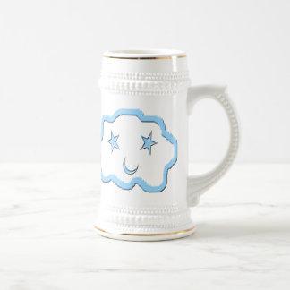 青い夢の雲の友人のマグ ビールジョッキ