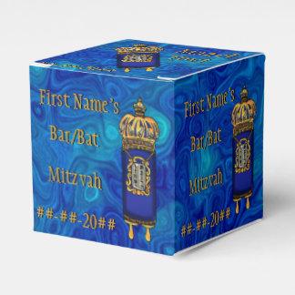 青い大理石の名前入りのバーこうもり(ユダヤ教の)バル・ミツバーTorah フェイバーボックス
