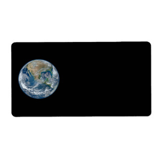 青い大理石の惑星の地球北アメリカメキシコ ラベル