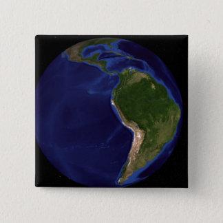 青い大理石の次世代の地球8 5.1CM 正方形バッジ
