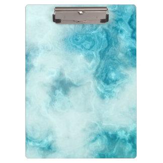 青い大理石の美しい質パターンクリップボード クリップボード