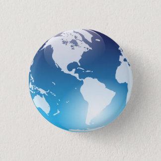 青い大理石ボタン 3.2CM 丸型バッジ