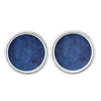 青い大理石 カフスボタン