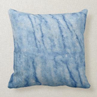 青い大理石 クッション