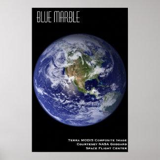青い大理石 ポスター