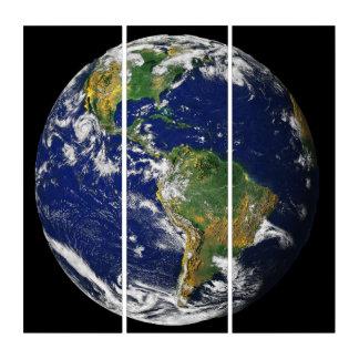 青い大理石、宇宙からの地球 トリプティカ