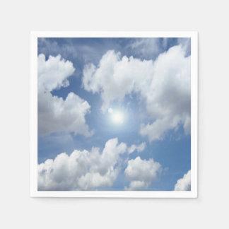 青い天国の雲 + あなたのアイディア スタンダードカクテルナプキン