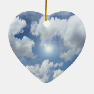 青い天国の雲 + あなたのアイディア セラミックオーナメント