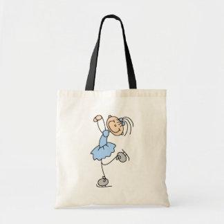 青い女の子のフィギュアスケート選手のTシャツおよびギフト トートバッグ