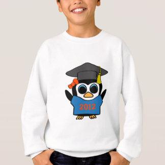 青い女の子のペンギン及びオレンジの2012年の卒業生 スウェットシャツ