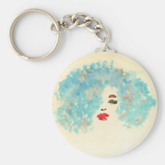 青い女の子Keychain キーホルダー