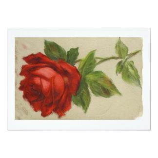 青い女性のための赤いバラ カード