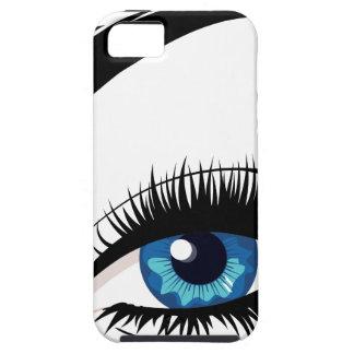 青い女性の目 iPhone SE/5/5s ケース