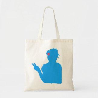 青い女性バッグ トートバッグ