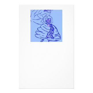 青い婚礼衣裳の花嫁 便箋