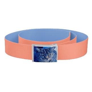 青い子猫カスタムなベルトのモモおよび青 ベルト