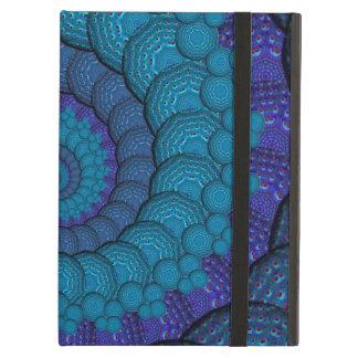 青い孔雀のフラクタルパターン iPad AIRケース