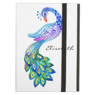 青い孔雀の水彩画 iPad AIRケース