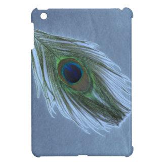 青い孔雀の羽D iPad MINI カバー
