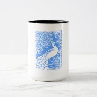 青い孔雀 ツートーンマグカップ