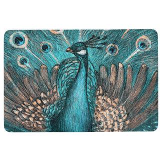 青い孔雀 フロアマット