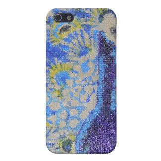 青い孔雀 iPhone 5 CASE