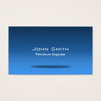 青い宇宙の石油エンジニアの名刺 名刺