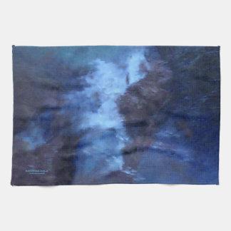 青い宇宙抽象芸術の台所タオル キッチンタオル