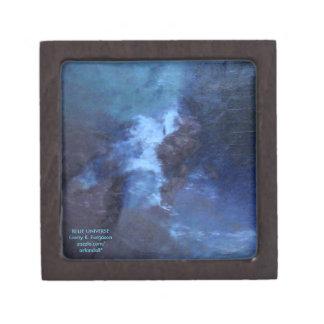 青い宇宙抽象芸術の宝石箱 ギフトボックス