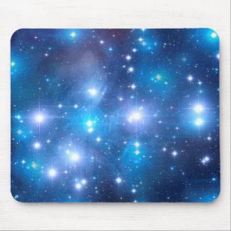 青い宇宙星 + あなたのアイディア マウスパッド