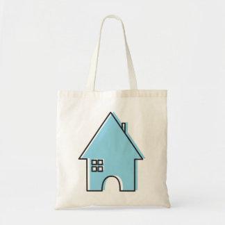 青い家 トートバッグ