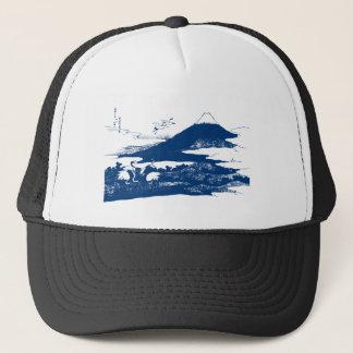 青い富士山 キャップ