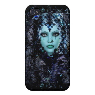 青い寡婦のあなたの板に一致させるゴシック様式電話箱 iPhone 4/4Sケース