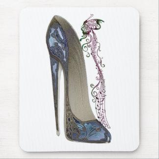 青い小剣の靴の芸術のラプソディ マウスパッド