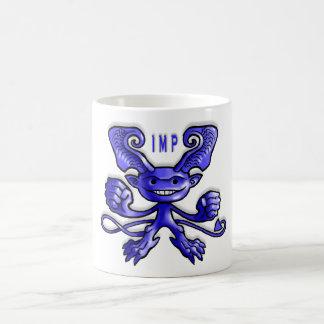 青い小鬼の握りこぶし コーヒーマグカップ