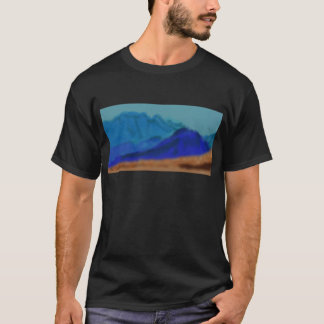 青い山の芸術 Tシャツ