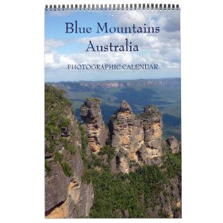 青い山オーストラリア カレンダー
