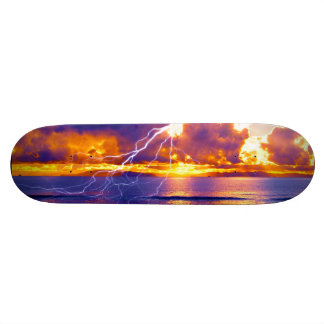 青い島の稲妻 20.6CM スケートボードデッキ