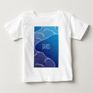 青い川 ベビーTシャツ