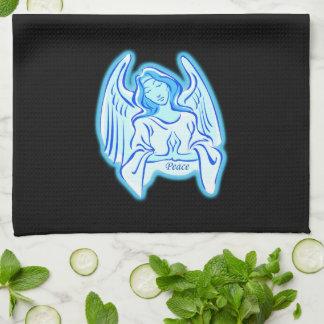 青い平和天使の台所タオル キッチンタオル