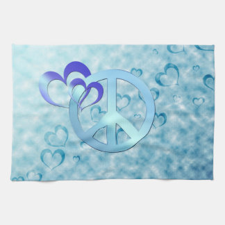 青い平和 キッチンタオル