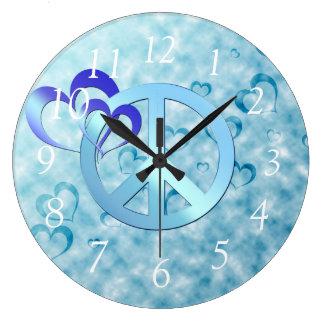 青い平和 ラージ壁時計