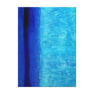 青い平静 キャンバスプリント