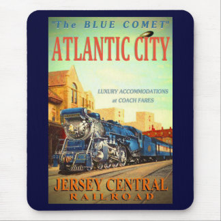 青い彗星の列車のマウスパッド マウスパッド