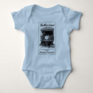 青い彗星の列車の乳児のクリーパー ベビーボディスーツ