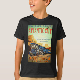 青い彗星の列車の子供のTシャツ Tシャツ