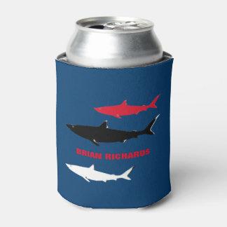 青い彼の名前の鮫 缶クーラー