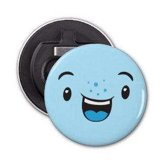 青い微笑のかわいいの顔の栓抜き 栓抜き